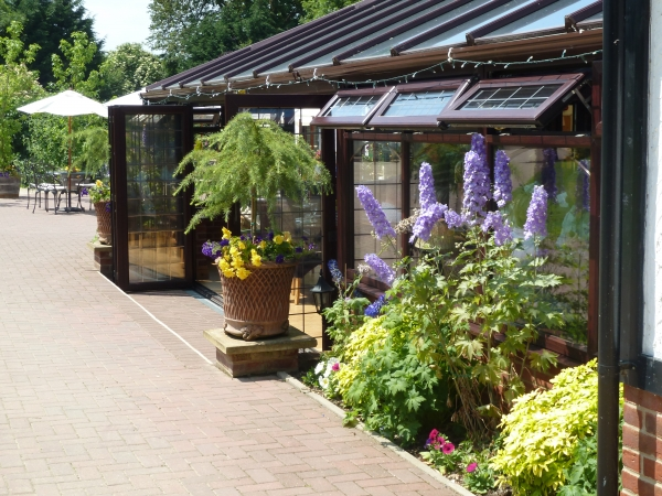The Garden Conservatory Restaurant overlooking our gardens, perfect for Civil Ceremonies